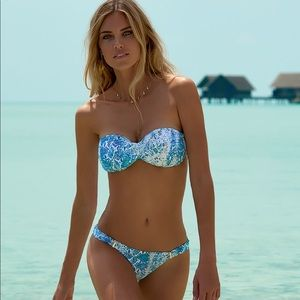 MARTINIQUE SERPENTE BANDEAU PADDED TWIST BIKINI